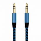 3.5mm to 3.5mm Jack Male to Male Nylon Auto Car Audio Aux Cable, Gold Plug Kabel Line Cord for IPHONE 7, Xiaomi, Speaker  1m/Silver