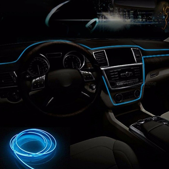 12v flexible neon el wire indoor universal car interior decorative 12v flexible neon el wire indoor universal car interior decorative strip led light strip for car aloadofball Images