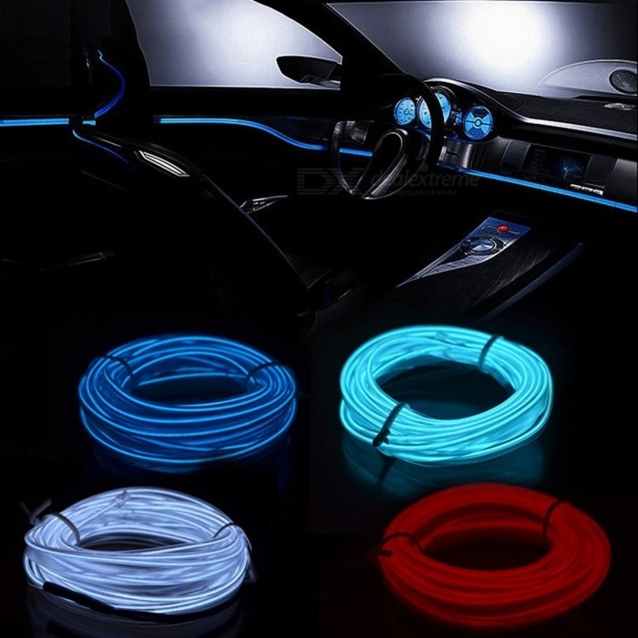 12v Flexible Neon El Wire Indoor Universal Car Interior Decorative Strip Led Light Strip For Car