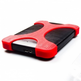 Portable Premium Durable Shockproof High Speed USB 3.0 External Hard Drive Disk HDD with Anti-Slip Case 750GB/Red