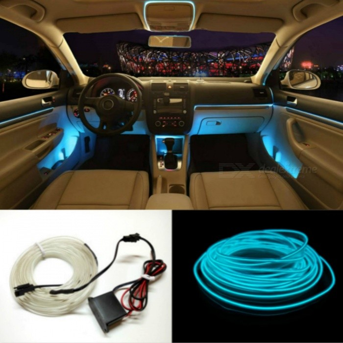 JURUS 5m Car Styling DIY EL Line, Flexible Interior Decoration ...