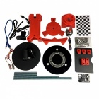 HE3D Open Source Portable DIY 3D Desktop Scanner Kit, Advanced Laser Scanner Plastic Injection Molding Parts red