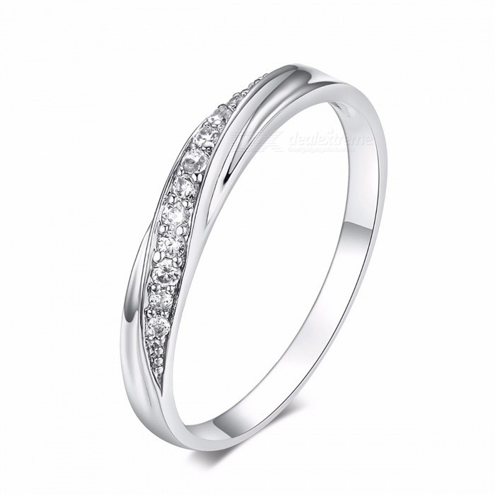 ZHOUYANG Simple Cubic Zirconia Lovers Rose Gold Color Wedding Ring Jewelry Full Sizes Elegant Stylish Ring