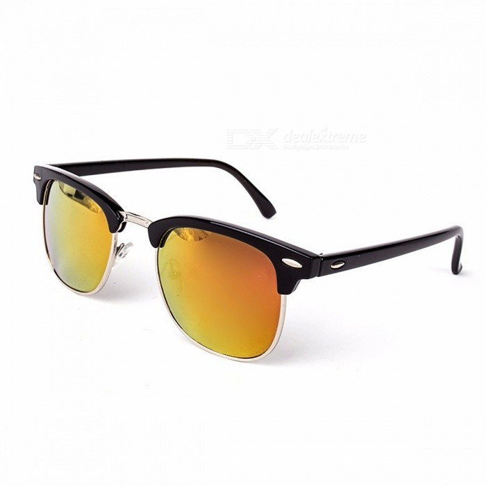 High Quality Chic Half Metal UV400 Classic Sunglasses for Men and Women, Fashion Mirror Sun Glasses Eyewear