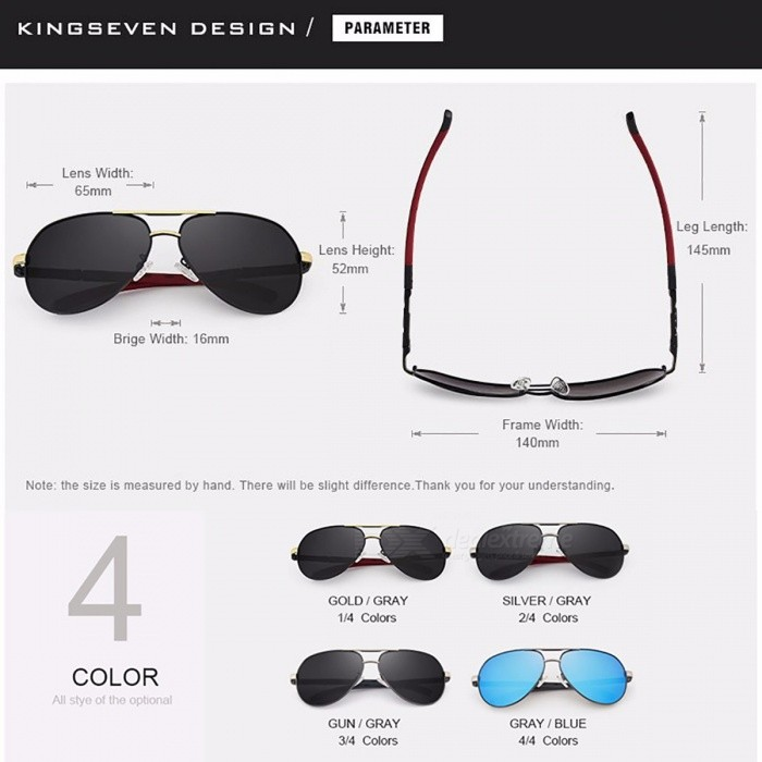 437a7713ee4 KINGSEVEN Vintage Aluminum HD Polarized Sunglasses Classic Brand Sun  glasses Coating Lens Driving Shades for Men