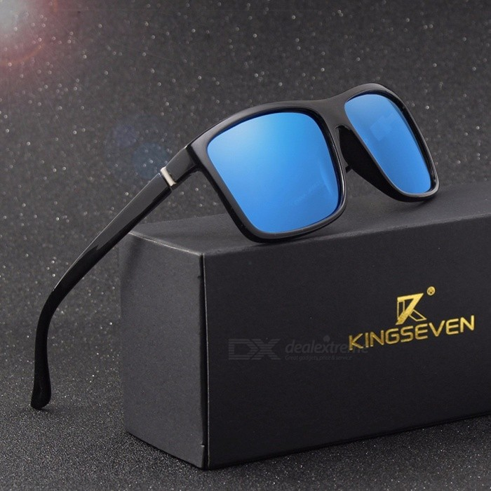 KINGSEVEN Vintage Style UV400 Protection Men's Sunglasses, Classic Male Square Glasses, Driving Travel Eyewear