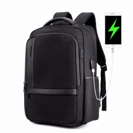 ARCTIC HUNTER Casual Style Nylon Waterproof Men's Shoulder Bag, College Students School Bag, Computer Laptop Backpack Black