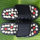Feet Massage Reflexology Reflex Slipper Sandal, Rest Pebble Stone Acupuncture Foot Healthy Massager Shoes 44 45/Brown