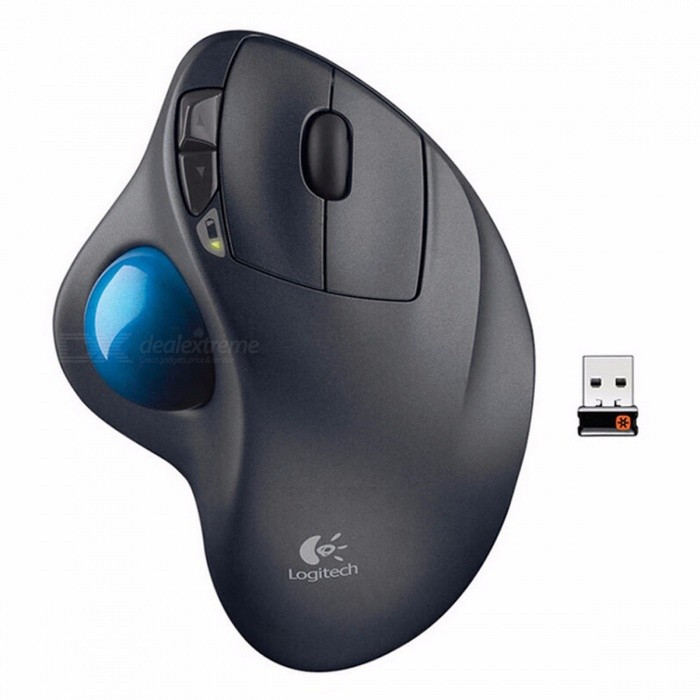 Logitech M570 2.4G Wireless Optical Trackball Ergonomic Gaming Mouse for Windows 10/8/7 Mac OS, Support Official Test