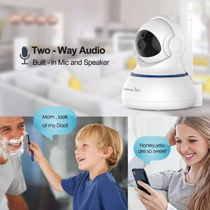 Wansview Q3s HD 1080P Wi-Fi Security Surveillance IP Camera with SD Card,  Alarm, Night Vision, P2P RTSP PTZ Home Indoor Camera 1080P IP Camera