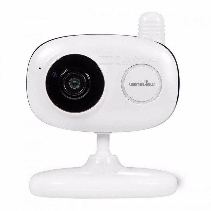Wansview Indoor Wireless Wi-Fi Home Security Surveillance IP Camera with  Two-Way Audio and Night Vision White Color