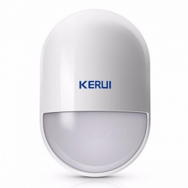 KERUI P829 Portable Mini Wireless PIR Motion Detector, Smart Home Alarm System Motion Detector Sensor with Battery White