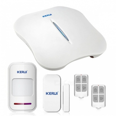 KERUI W1 Convenient Portable Wi-Fi PSTN Home Burglar Alarm System with Great Design for a Better Safety Life - KIT6