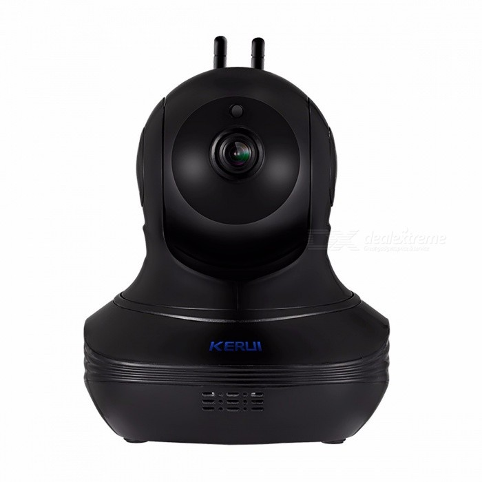 KERUI 1080P Full HD Indoor Wireless Wi-Fi IP Camera with Alarm, Cloud Storage for Home Security Surveillance - US Plug/BlackIP Cameras<br>ModelGC15HForm  ColorWhiteMaterialGC15HQuantity1 DX.PCM.Model.AttributeModel.UnitImage SensorCMOSLens3.6mmViewing Angle90 DX.PCM.Model.AttributeModel.UnitAudio Compression FormatNoNight VisionYesNight Vision Distance: DX.PCM.Model.AttributeModel.UnitWireless / WiFiNoNetwork ProtocolIPSupported SystemsXP,7Supported BrowserOperaSIM Card SlotNoOnline Visitor?Mobile Phone PlatformNo,Android,iOS,WindowsFree DDNSYesIR-CUTYesBuilt-in Memory / RAMNoMotorNoWater-proofYesIntercom FunctionYesColorBlackPower AdapterUS PlugPacking ListProduct<br>
