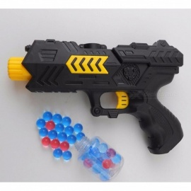 Pizies Cool Water Gun 400pcs Paintball Gun Pistol Soft Bullet CS Water Crystal Gun Air Airgun Gel Balls Black
