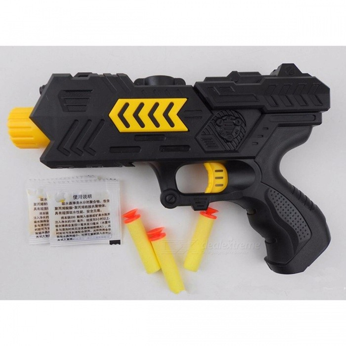 Pizies Cool Water Gun 400pcs Paintball Gun Pistol Soft Bullet CS Water Crystal Gun Air Airgun Gel Balls