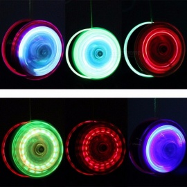 Pizies New LED Flashing High Speed Yo-Yo Ball, Luminous Child Clutch Mechanism Yoyo Toy for Kids, Party Entertainment Random Color