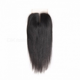 """ALI ANNABELLE HAIR 10 to 22"""" Brazilian Straight Wig Lace Closure Middle Part Natural Color 4x4 Brazilian Remy Hair Closure 20inches/Natural Color"""