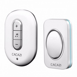 CACAZI C9918 Smart Home DoorBell AC 110-220V Waterproof 280m Remote Wireless Door Bell 48 Ringtones 6 Volume  UK/GOLD