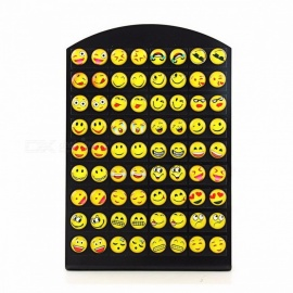 New Design 36 Pairs Emoji Funny Happy Face Pattern Ear Studs Earrings for Women Girls, Trendy Ear Jewelry Gifts Yellow
