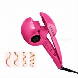 Automatic Hair Curler Steam Spray Hair Curlers Digital Hair Curling Iron Professional Curlers Hair Styling Tool 110-240V PINK EU