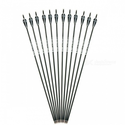 28/30 Inches Spine 500 Carbon Arrow with Black and White Color for Recurve Compound Bows Archery Hunting 6/12/24pcs/lot 12pcs 28 Inches