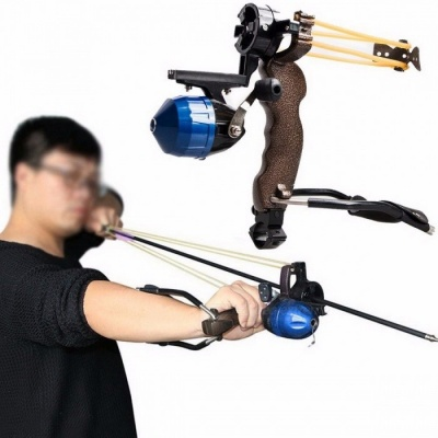 Powerful Target Shooting Slingshot with Folding Wrist Catapult Professional Hunter Hunting Fishing Sling Shot for Adults picture show