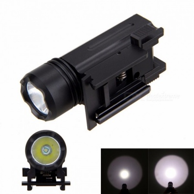 3000LM XPE Q5 LED Weaver Picatinny Mount Gun 3-Mode Tactical Flashlight, Hunting Torch Light for Outdoors black