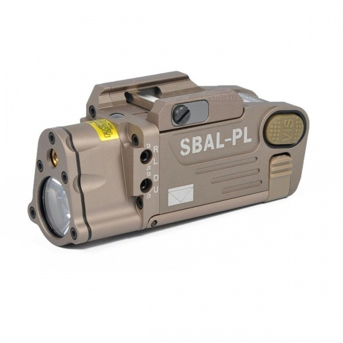AIMTIS SBAL-PL Tactical Laser Flashlight Hunting Weapon Light Combo Red Laser Pistol Constant &amp; Strobe Light for Picatinny Rail BlackDescription<br><br><br><br><br>Brand Name: AIMTIS<br><br><br><br><br><br><br><br><br><br><br>Model Number: SBAL Weapon light Laser Light Combo Steiner <br><br><br>Weight: 160g / 5.644 oz <br><br><br>Length: 80mm / 3.15 inch <br><br><br>Color: Black / Dark Earth <br><br><br>Rail Type: 20mm/21mm Weaver / Picatinny rail <br><br><br>Material: CNC Aluminum Making <br><br><br>Battery type: 1x3V CR123A battery(not included) <br><br><br>Power output: &amp;lt;5mW(Visible red laser)/500lumens(White light) <br><br><br>Wavelength: Visible laser 635nm <br><br><br>Feature: Constant&amp;amp;Strobe with Red laser <br><br><br><br><br>Function Mode:  <br><br><br>1. White Light 2. Strobe Light 3. Red Laser 4. White Light+Red Laser 5. Strobe Light+Red Laser <br><br><br>&amp;nbsp;<br><br><br>MULTI-FUNCTION FEATURES: <br><br><br>Red laser<br> White light LED,Constant&amp;amp;Strobe <br><br><br>&amp;nbsp;<br><br><br>Weapon Mounting <br><br><br>Fully adjustable mounting interface allows for use on standard pistol rails or M1913rail systems. <br><br><br>&amp;nbsp;<br><br><br>Operation <br><br><br>Press<br> the activation switch once for white light LED, the next press of the <br>activation switch will turn the light off. Two quick presses of the <br>activation switch will activate the strobe.<br> Press the activation <br>switch for more than 2 seconds will activate the red laser, the next <br>press the activation switch for more than 2 seconds will turn the red <br>laser off. Red laser and white light LED Can be activated at the same <br>time. <br><br><br>&amp;nbsp;<br><br><br>POWER OUTPUT<br>Visible red laser&amp;nbsp;&amp;nbsp;&amp;nbsp;&amp;nbsp; &amp;lt;5mW<br> White Light&amp;nbsp;&amp;nbsp;&amp;nbsp;&amp;nbsp;&amp;nbsp;&amp;nbsp;&amp;nbsp;&amp;nbsp;&amp;nbsp;&amp;nbsp; 500 Lumens<br><br>WAVELENGTH<br>Visible red laser&amp;nbsp;&amp;nbsp;&amp;nbsp;&amp;nbsp; 635nm<br><br>PEAK ILLUMINANCE<br>White light&amp;nbsp;&amp;nbsp;&amp;nbsp;&amp;nbsp;&amp;nbsp;&amp;nbsp;&amp;nbsp; &amp;nbsp; &amp;nbsp; Lumen M^2 @ 5m: 115 lux<br><br>BEAM DIVERGENCE<br>Visible laser&amp;nbsp;&amp;nbsp;&amp;nbsp;&amp;nbsp;&amp;nbsp;&amp;nbsp;&amp;nbsp;&amp;nbsp;&amp;nbsp; &amp;lt;0.8mRad<br> White light LED&amp;nbsp;&amp;nbsp;&amp;nbsp;&amp;nbsp; 22?<br><br>*RANGE<br>Visible laser&amp;nbsp;&amp;nbsp;&amp;nbsp;&amp;nbsp;&amp;nbsp;&amp;nbsp;&amp;nbsp;&amp;nbsp;&amp;nbsp; 250m(NIGHT)/5m(DAY)<br> White light LED&amp;nbsp;&amp;nbsp;&amp;nbsp;&amp;nbsp; 100m<br><br>BATTERY &amp;nbsp;<br>1xCR123A<br><br>BATTERY LIFE(mode dependent)<br>up to 1.5 hrs<br><br>MATERIAL<br>Aircraft aluminum 6061-T6/MIL-SPECT Type III hardcoat anodized<br><br>MOUNT<br>Standdard Pistol Rail or M1913 rails<br>