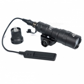 Greenbase Tactical M300 M300B MINI Scout Light Outdoor Rifle Hunting Flashlight 400 Lumen Weapon LED Light Black