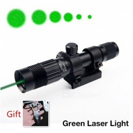 Adjustable Night Vision Optics Strong Green Laser Flashlight Illuminator For Hunting Picatinny Mount Rifle Laser Sight Green