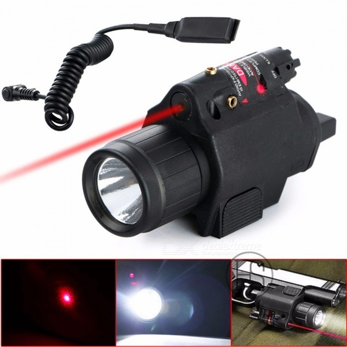 High Quality Tactical 200 Lumen Combo 2-in-1 Tactical LED Flashlight + Red Laser Sight Combo for Pistol BlackDescription<br><br><br><br><br><br><br><br><br><br><br>100% Brand New and High Quality<br>Use for airsoft.<br>Laser resettable windage and elevation adjustment.<br>Laser power lower than 5mw.<br>Led power 200 Lumens.<br>Remote pressure swith tail switch included.<br>Operate by two 3V CR123A battery(no included)<br>Three Type of Switch Mode: Laser / Flashlight / Laser+Flashlight<br>Quick release mounting latch mounts the flashlight securely and allows speedy installation and removal of the flashlight<br>Integrated mount for standard 20mm Picatinny / Weaver rails<br>20mm Picatinny mount for Hunting Gun Rifles PISTOL<br><br>Specifications:<br>Wavelength: 650nm<br>Output Power: &amp;lt;5mw<br>Laser Class: II<br>Lumen: 200 LM<br>Length: approx. 90mm<br>Color: Black<br>Rail Type: 5/8 20mm Weaver rail<br>Material: ABS Plastic<br>Battery: 2 x CR123A battery(NOT included)<br>Net Weight: 141g<br><br>Package Includes:<br>1 x Flashlight &amp;amp; Laser 2 in 1<br>1 x Tail Switch<br>1 x Wrench<br>