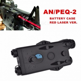 Tactical Airsoft AN PEQ-2 Battery Case Box Red Laser for 20mm Rails No Function L100mm x W65mm x H20mm PEQ Box Beige