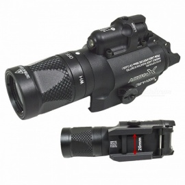 SFX400V High Quality Pistol Gun Flashlight With Red Laser Sight With Blasting Flash Function for Hunting Black