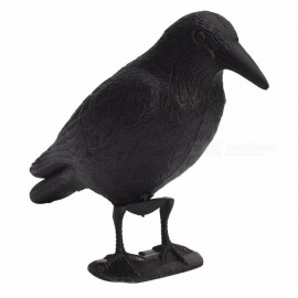 Waterproof Plastic Crow Hunting Decoy, Garden Yard Lifelike Bird Deter Scarer Scarecrow, Mice Pest Control Deterrent Repeller Black