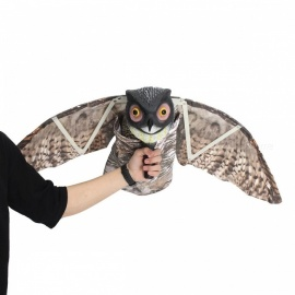 Flying Owl Decoy Pest Control Garden Mice Scarer, Scarecrow Predator Decoy Pest Bird Deterrent for Outdoor Hunting  As shown