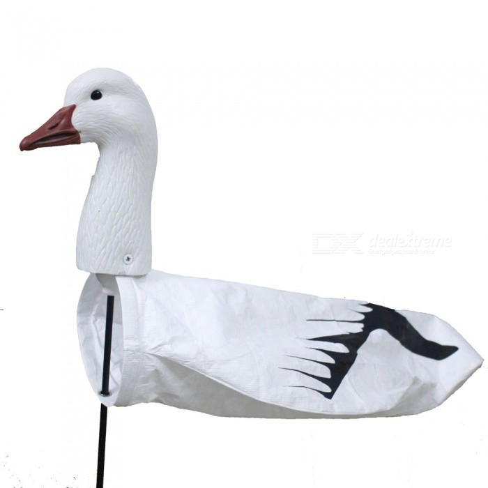 Portable Outdoor Hunting Decoy, Tyvek Screen Printing Windsock Wind Socks EVA Plastic Snow Goose Decoy whiteDescription<br><br><br><br><br>Type: Goose<br><br><br><br><br><br><br><br><br><br><br><br><br>1. 100% brand new and high quality. <br><br><br>&amp;nbsp;<br><br><br><br><br>The snow goose head material:&amp;nbsp;senior soft EVA<br><br><br>Goose body&amp;nbsp;material:&amp;nbsp;Tyvek<br><br><br>Support:&amp;nbsp; &amp;nbsp;fiber glass rod<br><br><br>Printing:&amp;nbsp;screen printing<br><br><br>Application:&amp;nbsp;outdoor, garden decoration <br><br><br>Size:&amp;nbsp;19inX13inX71/2in <br><br><br>ITEM Includ: <br><br><br>&amp;nbsp;&amp;nbsp; 1.&amp;nbsp;goose head <br><br><br>&amp;nbsp;&amp;nbsp; 2. goose body&amp;nbsp; <br><br><br>&amp;nbsp;&amp;nbsp; 3.&amp;nbsp;fiber glass rod <br><br><br><br><br>Please allow 1-3 cm error due to manual measurements .&amp;nbsp; Please kindly understand. <br><br><br>Package Including&amp;nbsp; :&amp;nbsp; &amp;nbsp;&amp;nbsp; 1 set<br>