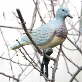 GUGULUZA Portable Hunting Turtle Dove Decoy, Garden Plant Scarer Pest Control Hunting Shooting Decoy  As picture