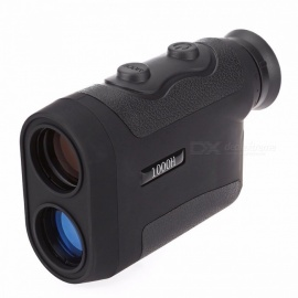 Golfing Optical Laser Rangefinder Scope, Multifunctional Distance Speed Measure Telescope Range Finder for Hunting  Black