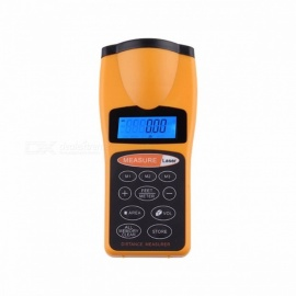 OUTAD CP-3007 Professional Durable Ultrasonic Distance Measure Laser, Designator Point Rangefinder w/ LCD Night Light Backlight orange