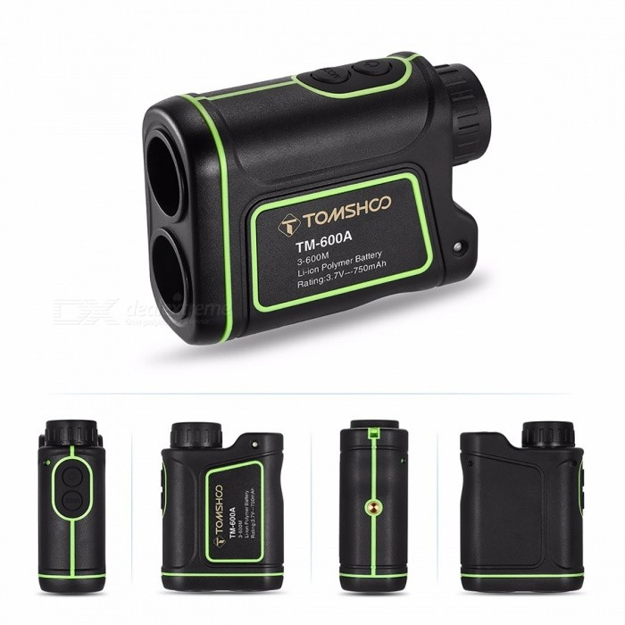 TOMSHOO 7x24mm Golf Laser Rangefinder, USB Rechargeable Range Finder, Pinsensor Distance Meter for Outdoor Hunting