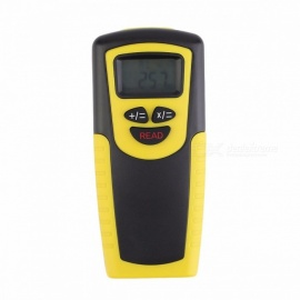 Portable Laser Distance Meter Range Finder, Ultrasonic Distance Measure Point Rangefinder Medidor with LCD Display Yellow+Black