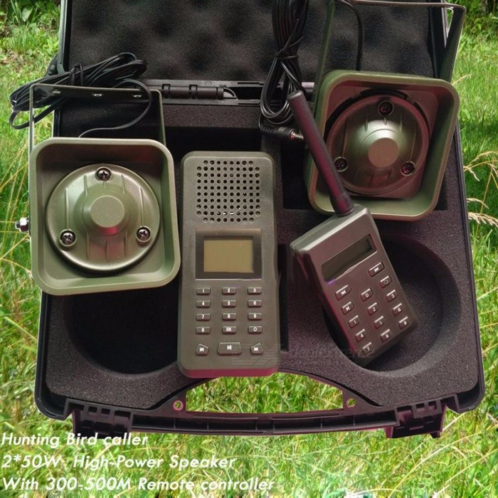 Hunting Bird Sound MP3 Player, Goose Duck Sounds Caller Hunting Decoy with 300m-500m Remote Controller, 2Pcs 50W Speakers  Olive GreenDescription<br><br><br><br><br>Brand Name: CIVAWEY <br><br><br>Type: Other <br><br><br><br><br><br><br><br><br><br><br><br><br><br>Main&amp;nbsp;Spec:<br><br><br><br>1.An Amazing Desert Bird caller&amp;nbsp;Built-in 20W 126dB speaker, and with external two 50W speakers of 150dB. &amp;nbsp; &amp;nbsp; &amp;nbsp; &amp;nbsp; &amp;nbsp; &amp;nbsp; &amp;nbsp; &amp;nbsp; &amp;nbsp; &amp;nbsp; &amp;nbsp; &amp;nbsp; &amp;nbsp; &amp;nbsp; &amp;nbsp; &amp;nbsp; &amp;nbsp; &amp;nbsp; &amp;nbsp; <br><br><br><br> 2.With 14Keys remote controller, can reach to 300-500 meters. &amp;nbsp; &amp;nbsp;&amp;nbsp; &amp;nbsp;&amp;nbsp;<br> &amp;nbsp; &amp;nbsp; &amp;nbsp; &amp;nbsp; &amp;nbsp; &amp;nbsp; &amp;nbsp; &amp;nbsp; &amp;nbsp; &amp;nbsp; &amp;nbsp; &amp;nbsp; &amp;nbsp; &amp;nbsp; &amp;nbsp; &amp;nbsp; &amp;nbsp; &amp;nbsp; &amp;nbsp; &amp;nbsp; &amp;nbsp; &amp;nbsp; &amp;nbsp; &amp;nbsp; &amp;nbsp; &amp;nbsp; &amp;nbsp; &amp;nbsp; &amp;nbsp; &amp;nbsp; &amp;nbsp; &amp;nbsp; &amp;nbsp; &amp;nbsp; &amp;nbsp; &amp;nbsp;<br> &amp;nbsp; &amp;nbsp; &amp;nbsp; &amp;nbsp; &amp;nbsp; &amp;nbsp; &amp;nbsp; &amp;nbsp; <br><br><br><br>3.Timer ON/OFF &amp;nbsp; &amp;nbsp; &amp;nbsp; &amp;nbsp; &amp;nbsp; &amp;nbsp; &amp;nbsp; &amp;nbsp; &amp;nbsp; &amp;nbsp; &amp;nbsp; &amp;nbsp; &amp;nbsp; &amp;nbsp; &amp;nbsp; &amp;nbsp; &amp;nbsp; &amp;nbsp; &amp;nbsp; &amp;nbsp; &amp;nbsp;<br> &amp;nbsp; &amp;nbsp; &amp;nbsp; &amp;nbsp; &amp;nbsp; &amp;nbsp; &amp;nbsp; &amp;nbsp; &amp;nbsp; &amp;nbsp; &amp;nbsp; &amp;nbsp; &amp;nbsp; &amp;nbsp; &amp;nbsp; &amp;nbsp; &amp;nbsp; &amp;nbsp; &amp;nbsp; &amp;nbsp; &amp;nbsp; &amp;nbsp; &amp;nbsp; &amp;nbsp; &amp;nbsp; &amp;nbsp; &amp;nbsp; &amp;nbsp; &amp;nbsp; &amp;nbsp; &amp;nbsp; &amp;nbsp; &amp;nbsp; &amp;nbsp; &amp;nbsp; &amp;nbsp;<br> &amp;nbsp; &amp;nbsp; &amp;nbsp; &amp;nbsp; &amp;nbsp; &amp;nbsp; &amp;nbsp; &amp;nbsp;