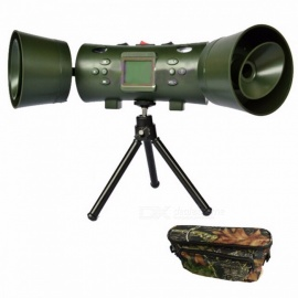 New Electronic 200 Sounds Hunting MP3 Bird Caller Hunting Decoy with Built-in 2Pcs 35W Speakers and Timer Olive green