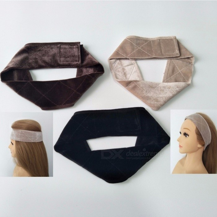 New Arrival Portable Hand-made Non-slip Wig Grip Band Strap for Holding Your Wig, Hat or Scarf, Easy to Use BlondCurly Long<br>Description<br><br><br><br><br>Item Type: Hairnets<br><br><br><br><br><br><br><br><br><br><br><br><br><br><br>The size of wig grips. Length is 55cm ( Stretched length 70cm). The width is 6cm in the middle and 4.5cm at the sides.<br><br><br><br>For head size measure:&amp;nbsp;45cm-56cm&amp;nbsp;(22.5inch). <br><br><br>Material:&amp;nbsp;Double-sized crushed velvet material. <br><br><br>Color:&amp;nbsp;Brown, blond and black. Color varies when you see from the different view.&amp;nbsp; <br><br><br>Weight is about 20 gram without packaging, very light for wearing. <br><br><br>Packaging: 1 piece&amp;nbsp;per pack in one plastic bag. Neatly folded. <br><br><br><br>Our Wig Grip Band can be worn under any wig, scarf or hat to keep it completely secure. &amp;nbsp;<br><br><br>We&amp;nbsp;use a double-sided crushed velvet material, so one side grips to your hair or skin, and the&amp;nbsp;other side adheres to your wig or head covering. &amp;nbsp;Our band is very comfortable to wear and&amp;nbsp;features an adjustable Velcro closure in the back.<br>