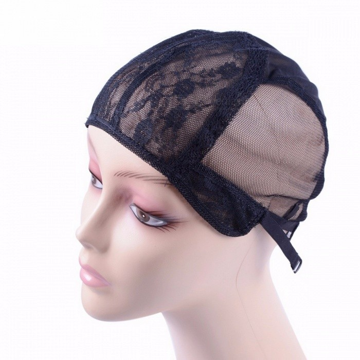 5Pcs/Lot Double Lace Wig Caps for Making Wigs and Hair, Weaving Stretchable Adjustable Wig Hair Dome Cap Net