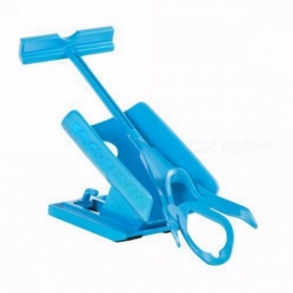 Mayitr Portable Sock Slider Aid Helper Kit to Help Put Socks On Off, No Bending Shoe Horn, Suitable for Socks Blue