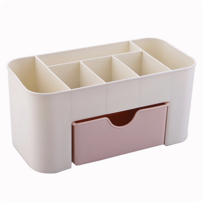 Plastic Makeup Cosmetic Brush Jewelry Organizer, Office Storage Drawer Desk Makeup Case Box, Lipstick Remote Control Holder