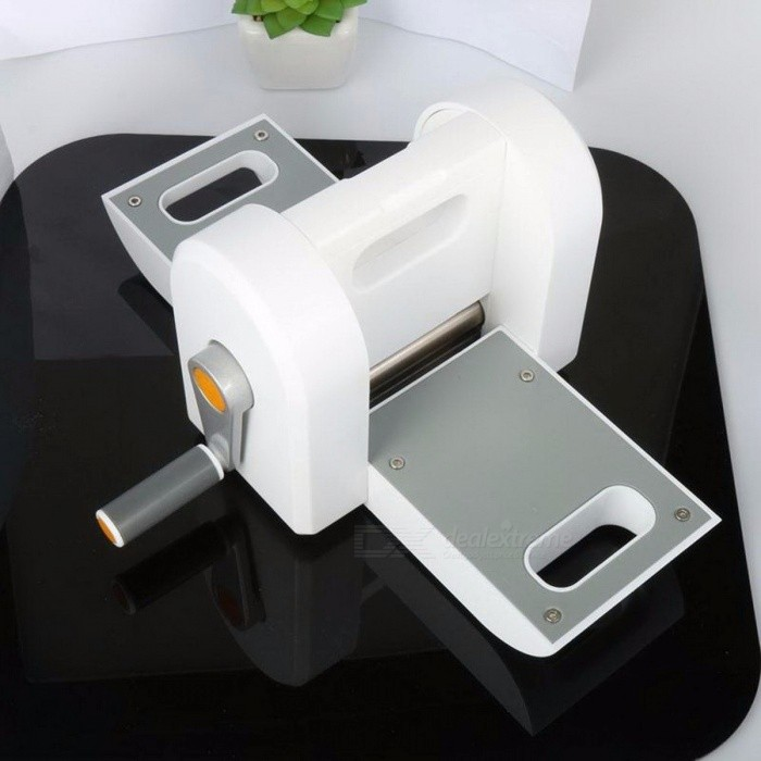 Portable DIY Embossing Steel Scrapbooking Die Cutting Machine, Die Cut Paper Cutter Die-Cut Device Tool WhiteDIY Parts &amp; Components<br>Description<br><br><br><br><br><br><br><br><br>Features: <br><br><br>Strong Cutting Force:&amp;nbsp;Combine<br> cutting dies (not included) and transparent subplates to cut different <br>paperboard easily, just one times can finish cutting. <br><br><br>Widely Application:&amp;nbsp;Perfect<br> for making DIY photo albums, postcards, invitations, scrapbooking and <br>so on, you can cut paper moulds with different pattern and shapes to <br>decorate your photo albums, postcards, gift boxes, etc. <br><br><br>High-grade Materials:&amp;nbsp;Adopts excellent plastic and stainless steel, durable, rustproof and environmental friendly. <br><br><br>Easy to Use: <br>Lightweight and portable,&amp;nbsp;easy to store and use,just shake the handle to<br> make the mould type as you want, runs smoothly, save time and strength. <br><br><br>Operation Steps:&amp;nbsp;First,<br> open the tray on the left and right of the&amp;nbsp;machine, second, put the <br>dies and paper on the middle place of transparent subplate, and then, <br>insert the whole transparent subplate(including the dies and paper) into<br> the relevant slot of the paper machine, after placed, just shake the <br>handle, you can easily cut the paper moulds.&amp;nbsp;&amp;nbsp;&amp;nbsp;&amp;nbsp;&amp;nbsp;&amp;nbsp; <br><br><br>Note: <br><br><br>1. The cutting dies is not included. <br><br><br>2. You need to replace the transparent subplates,because the pattern on the transparent subplate will lose after long time use. <br><br><br>3. If you have any problem of the usage, you can watch the video on the detail. <br><br><br>4.There are some errors in manual measurement. <br><br><br>Specifications: <br><br><br>Product Type:&amp;nbsp;Paper Machine <br><br><br>Materials:&amp;nbsp;Plastic +Stainless Steel <br><br><br>Color:&amp;nbsp;White <br><br><br>Main Item Size:&amp;nbsp;27 * 12 * 7.5cm/10.