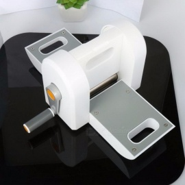 Portable DIY Embossing Steel Scrapbooking Die Cutting Machine, Die Cut Paper Cutter Die-Cut Device Tool White